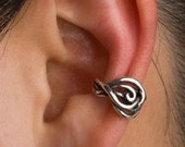 Silver Ear Cuff Swirl Ear Cuff Twisted Ear Cuff Spiral Ear Cuff Spiral Earring Swirl Earring Spiral Jewelry Non-Pierced Earring Celtic