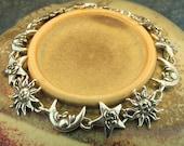 Sun Moon Star Bracelet Silver - Celestial Bracelet - Celestial Jewelry - Sun Jewelry Moon Jewelry Star Jewelry - Silver Bracelet