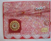 Happy Birthday Mom Handmade Card Red