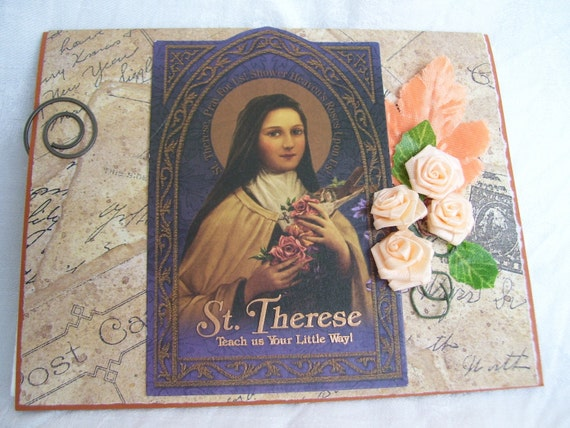 St Therese the Little Flower Handmade Card