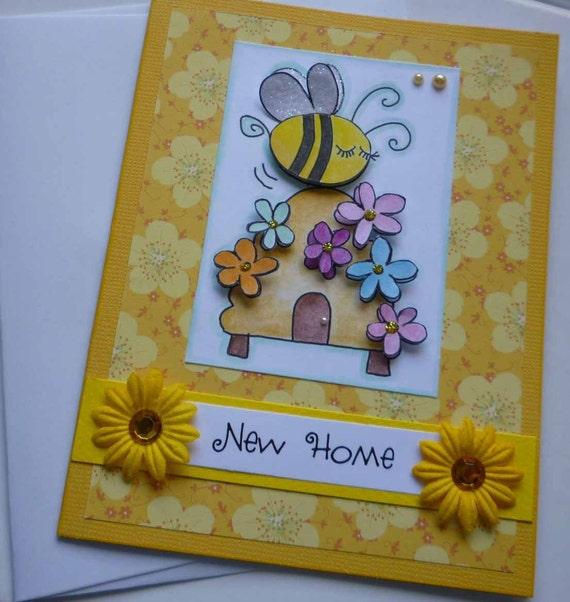 New home biglietto di auguri con ape ed alveare per la casa - Auguri divertenti per la casa nuova ...