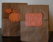 Halloween pumpkin or fall harvest treat bags pumpkin party
