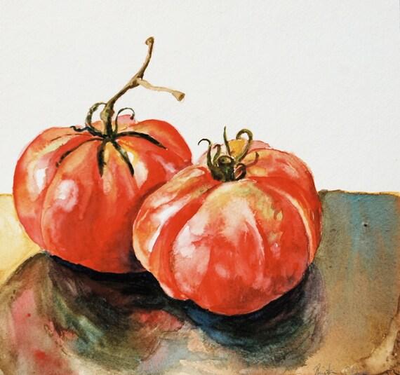 Heirloom Tomatoes - Original Watercolor Painting