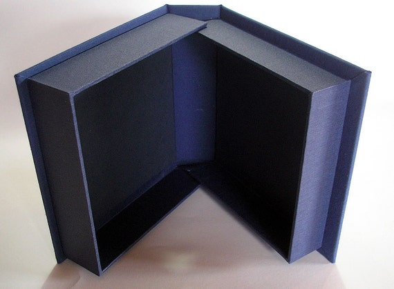 "Custom Clam Shell Box, 8 x 8 x 1"" content. Wedding Mementos Storage Box. Portfolio Box. Drop Spine Box. Clams Shell for First Edition Books."