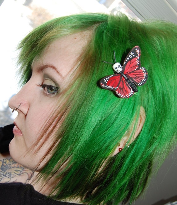 Small Skullerfly Hair Clip - choose your color