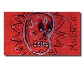 muerto skull magnet