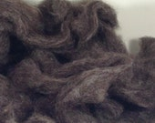 Naturally Colored Romney Rambouillet X Carded Roving 4 oz bag 'Blue' CCR711