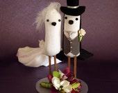 Wedding Cake Topper - Bird Cake Topper - Custom Made Bride and Groom Love Birds
