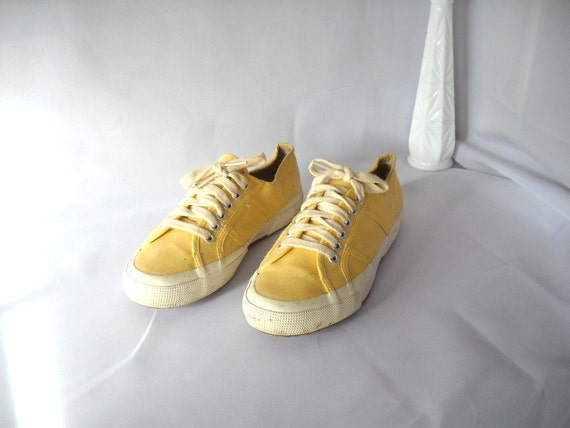 Vintage Yellow Sneakers Limited Tennis Shoes Size 7 Lace Up The Limited Sporty Shoes Athletic Casual Womens Athletic Shoes