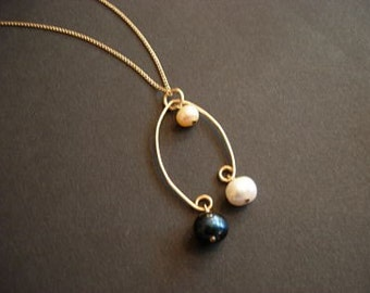 delicate balance necklace - gold filled