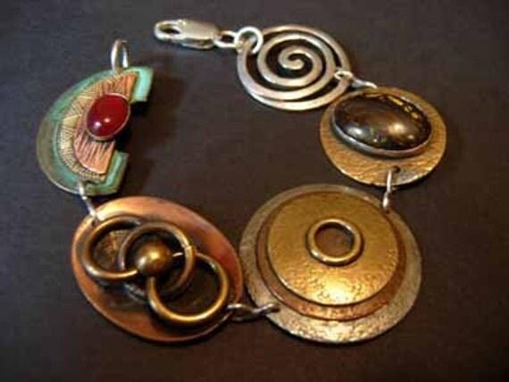 lost earring multi-stone bracelet