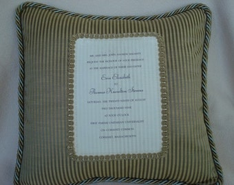 Wedding Invitation or Wedding Picture Pillow