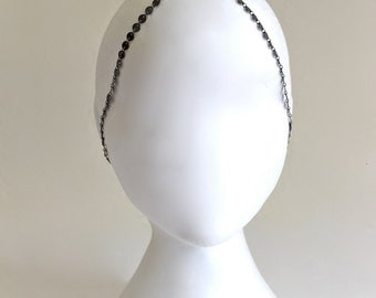 3 StRanD GunMeTaL BoHo BoheMian HiPPie GypSy CoiN DiSc HeaD PieCe DreSs BaND . One Size .