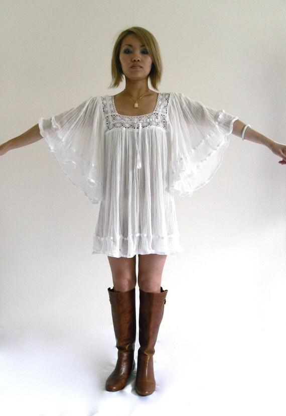 White Gauze Dresses