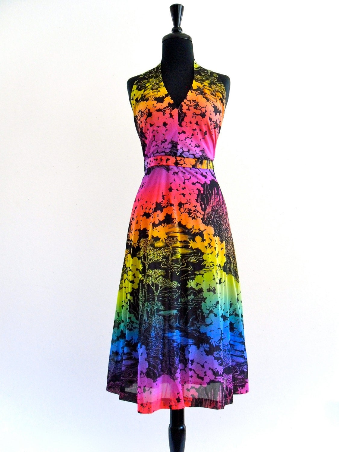 karachimutant: plus length dresses rainbow