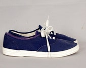vintage 1980s shoes sneakers canvas keds lace up