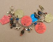 Dog Charm Bracelet Upcycled Dog Tags