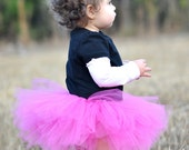 Boutique Hot Pink Tutu size 1/2 READY TO SHIP free bow added