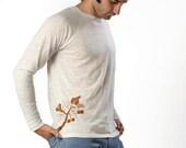 Unisex Kukui White Burnout Longsleeve T Shirt