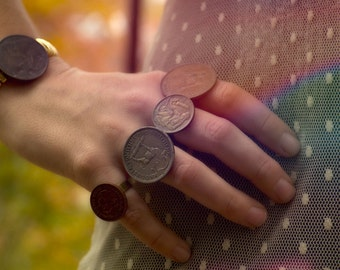 rung out: antique coin ring