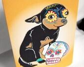 Muertos Chihuahua Greeting Card