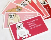 Bulldog Love Cards - Mini Eco-friendly Set of 7