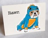 Lil Dragon Bulldog Greeting Card