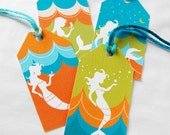 Tropical Mermaid Gift Tags - Set of 8