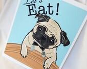 Hungry Pug - Eco-Friendly 8x10 Print