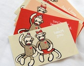 Sock Monkey Love Cards - Eco-friendly Set of 8