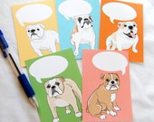 Convo Bulldog Flat Notecards - Eco-friendly Set of 5 - Jumbo Size