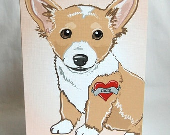 Custom Corgi Tattoo Greeting Card
