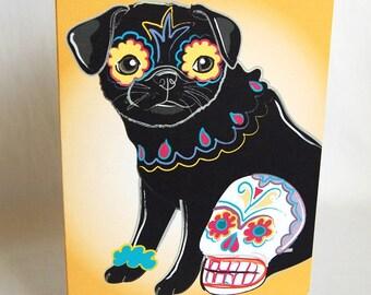Muertos Pug Greeting Card