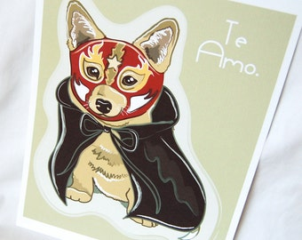 Corgi Luchador - Eco-Friendly 8x10 Print