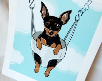 Swinging Min Pin - Eco-friendly 7x9 Print