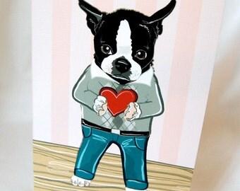 Boston in Love Greeting Card