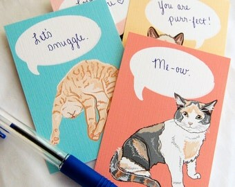 Convo Cat Valentines - Eco-friendly Set of 6