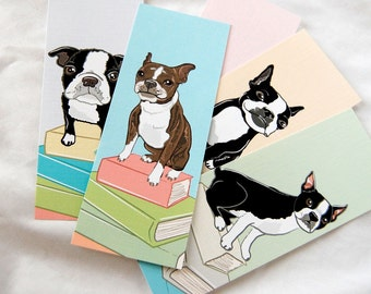 Boston Terrier Bookmarks - Eco-friendly Set of 5