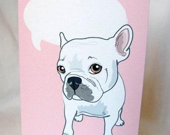French Bulldog Conversation Bubble Greeting Card