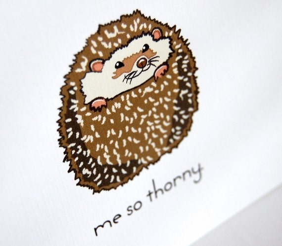 Thorny Hedgehog Greeting Card