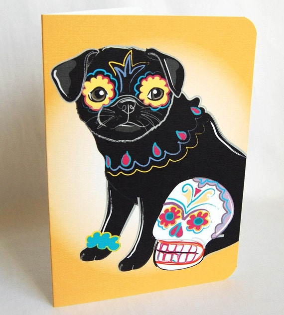 Muertos Pug Greeting Card