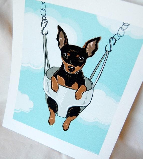 Swinging Min Pin - Eco-friendly 7x9 Print