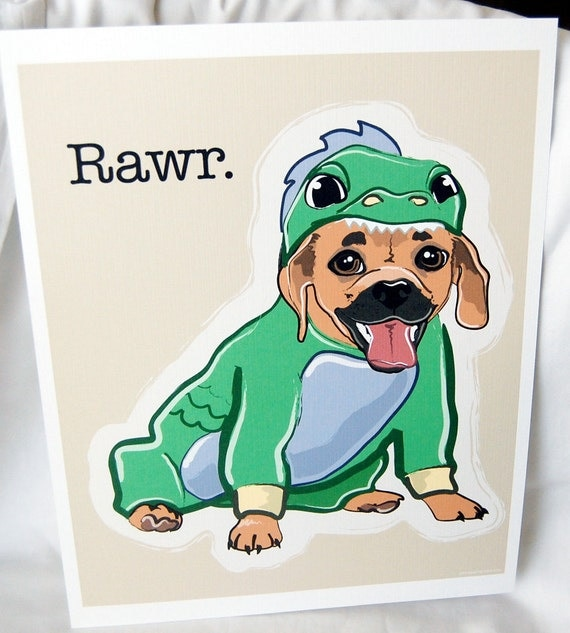 Puggle Dragon - Eco-Friendly 8x10 Print