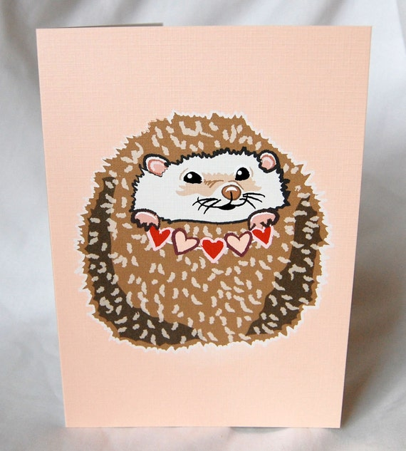 Hearty Hedgehog Greeting Card