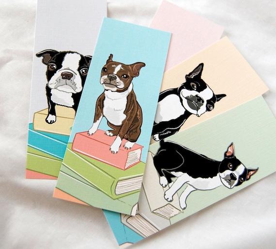 Boston Terrier Bookmarks - Eco-friendly Set of 5