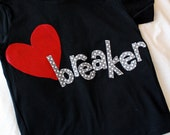 Kids Valentines Shirt, Valentines Day Shirt, Heartbreaker Shirt, Kids Holiday Shirt, Made to Order, Unisex Valentines Gift, New Baby Gift