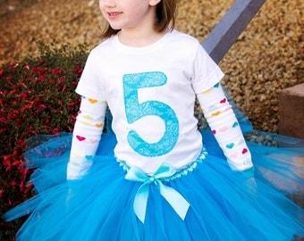 5th Birthday Shirt, Birthday Shirt for Girls, Girl Birthday Shirt, Birthday Party Shirt, Any Age Birthday Shirt, Made to Order