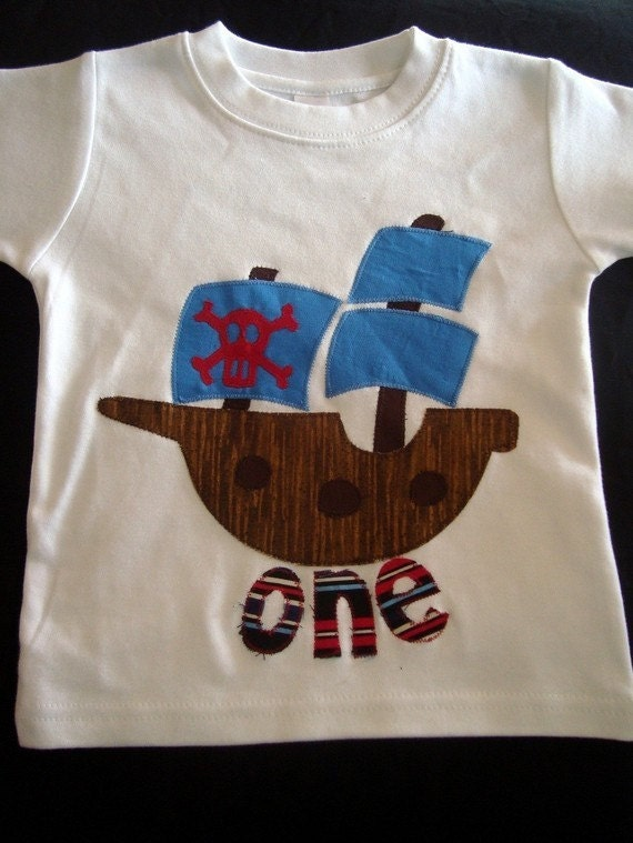 Birthday Shirt for Boys, Boy Birthday Outfit, Pirate Birthday Shirt, Kids Birthday Shirt, Skull and Crossbones Shirt, Pirate Ship Shirt