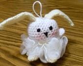 Crocheted Bunny Bath Puff