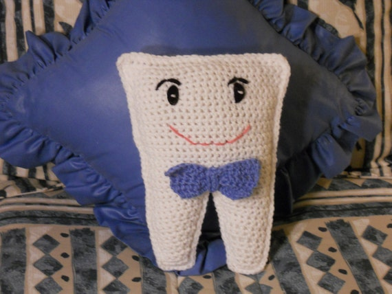 Crocheted Boy Tooth Fairy Pillow